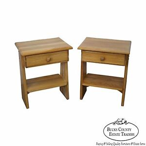 Brandt Ranch Oak Southwest Style Pair Of 1 Drawer End Tables