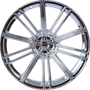 4 Gwg Wheels 22 Inch Chrome Flow Rims Fits Chevy Impala 2014 2018