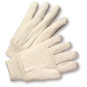120 Pair Of 100 Cotton Canvas Work Gloves Mens Large Knit Wrist New