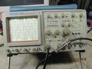 Tektronix 2465 300mhz 4 Channel Oscilloscope Works Great