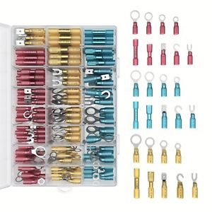 Heat Shrink Wire Connectors Kit 270 Pc Variety Of Waterproof Electrical Crimp