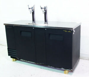 Used True Tdd 3 Two Door Draft Beer Cooler W Two Tap Towers