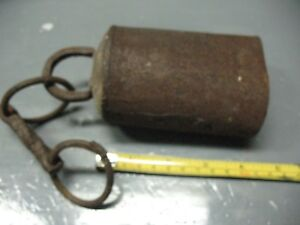 Primitive Cow Oxen Bovine Bell Hand Forged Iron