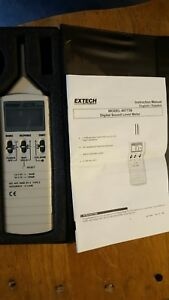 Extech 407736 Sound Level Meter Digital 1 5db Accuracy Mint Con