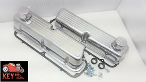 Ford Tall Ball Mill Aluminum Valve Covers Polished 289 302 351w Sbf Breathers