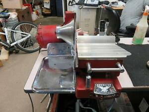 Vintage Meat Slicer Machine American Slicing Co B 1j926 Works Great