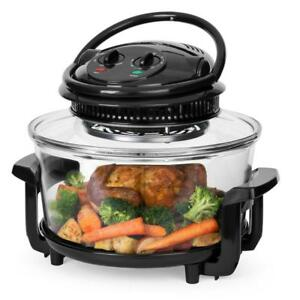 12l Electric Countertop Convection Oven Black