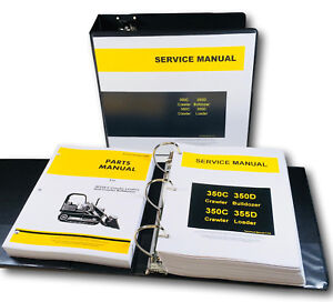 Service Parts Manual Set John Deere 350c 350d 355d Crawler Bulldozer Loader Shop