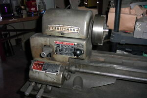 Sears Lathe For Metal Nice Complete 12 Diam With Tooling And Accessories