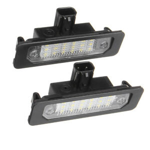 2pcs Led Rear Number License Plate Light For Ford Mustang Focus Fusion Taurus Us