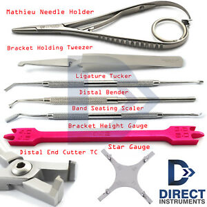 Mathieu Needle Holder Cutter Distal Bender Band Pusher Orthodontic Instruments