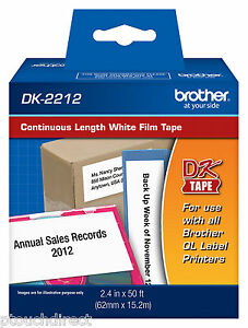 Brother Dk2212 2 3 7 Continuous White Film For Ql700 Ql 700 Label Printers