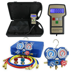 Ac Manifold Gauge Set R134a r22 W Digital Electronic Refrigerant Charging Scale