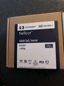 Covidien Nellcor Ds100a 1 Reusable Finger Sensor Adult Spo2 Sensor