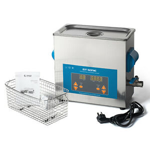 6l Industrial Ultrasonic Cleaning Machine Hardware Jewelry Parts Cleaner 150w