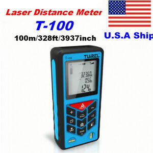 Us Ship Tuirel 100m 328ft Laser Distance Meter Range Finder Measure Instrument