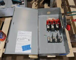 Eaton Cutler Hammer Dh363fgk 100 Amp 600 Volt Fused Type 1 Disconnect Switch