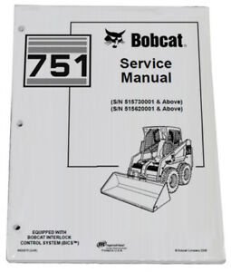 Bobcat 751 Skid Steer Loader Service Manual Shop Repair Book 1 Part 6900975