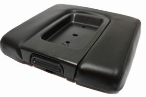 Real Leather Wide Black Console Armrest Cover Fits 14 18 Chevy Silverado Sierra