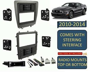 2010 2014 Ford Mustang Double Din Car Radio Stereo Dash Kit Touchscreen Climate