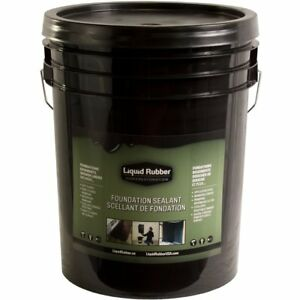 Liquid Rubber Foundation Sealant basement Coating 5 Gallon Black