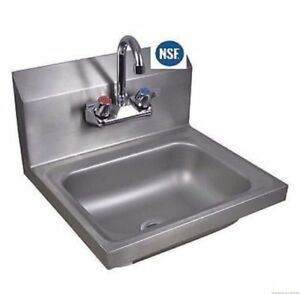 Gridmann Commercial Nsf Stainless Steel Sink Wall Mount Hand Washing Basin