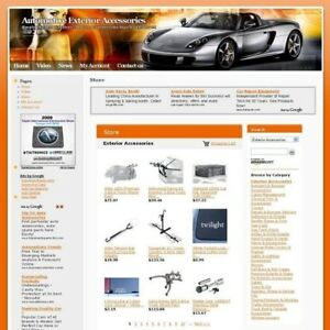 Online Automotive Exterior Store Business Website For Sale Free Domain