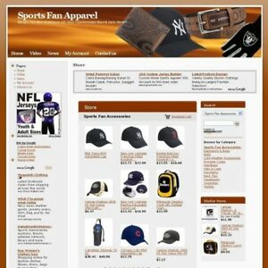 Established Sport Fan Store Affiliate Business Website For Sale Free Domain