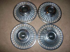 Oem 1963 63 Chevy Impala Biscayne Bel Air 4 14 Hubcaps Wheel Covers