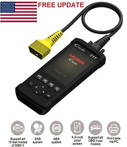 Launch Creader Cr611 6011 Code Reader Diagnostic Tool Eobd Abs Srs I m O2 Dtcs