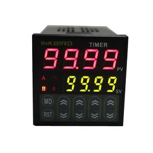 Inkbird Digital Twin Timer Relay Time Delay Relay Switch 110 220v Black I New