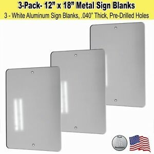12 X 18 Metal Sign Blank White Aluminum 040 3 3 New