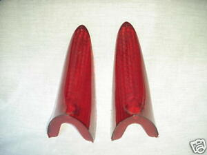 1956 1957 1958 Packard Clipper Tail Light Lenses New Pair Reproductions