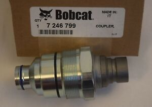 Bobcat 7246799 Male Hydraulic Hi Flow Coupler Skid Steer T450 T550 T590 T630 New