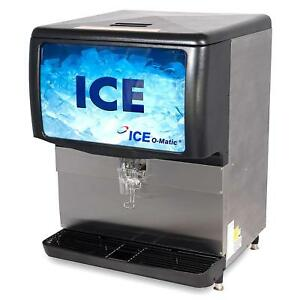 Ice o matic Iod150 150 Lb Countertop Cube Pearl Ice Storage Bin
