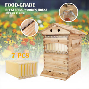 7pcs Upgraded Bee Hive Honey Beehive Frames Beehive Beekeeping Wooden Box