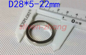Lots 28mmx5mm Hole 22mm Disc Ring Round Rare Earth Neodymium Magnets N50