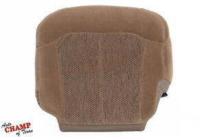 1999 2000 Chevy Silverado 1500 Hd driver Side Bottom Cloth Seat Cover Dark Tan