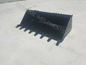 72 Hd Tooth Dirt Bucket Skid Steer free Shipping