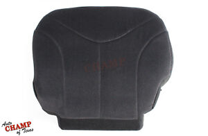 2001 2002 Gmc Sierra 2500hd Sle driver Side Bottom Cloth Seat Cover Dark Gray
