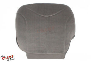 2001 2002 Gmc Sierra 1500 2500 Hd Sle Driver Side Bottom Cloth Seat Cover Gray