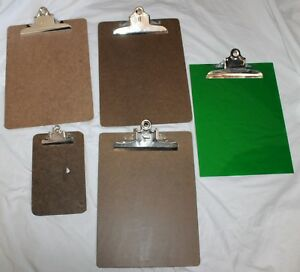 Vintage Lot Of 5 Clipboards Tru Bilt Abel A w Stempel National