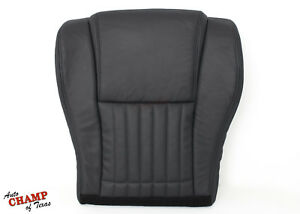 2000 2002 Pontiac Trans Am Formula Driver Side Bottom Leather Seat Cover Black
