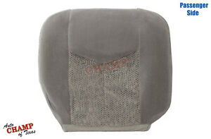 2003 2006 Chevy Tahoe Suburban Lt Ls passenger Side Bottom Cloth Seat Cover Gray