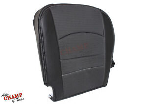 2009 2012 Dodge Ram 1500 Sport Driver Side Bottom Cloth Leather Seat Cover Gray