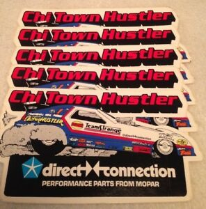 10 Vintage Nhra Drag Racing Funny Car Chi Town Hustler Stickers Decals Mint