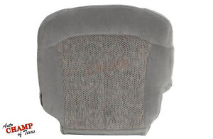 1999 2000 Chevy Silverado 1500 Ls Lt Hd driver Side Bottom Cloth Seat Cover Gray