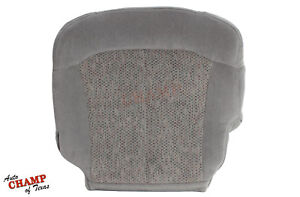 2001 2002 Chevy Silverado 1500 Ls Lt Hd Driver Side Bottom Cloth Seat Cover Gray