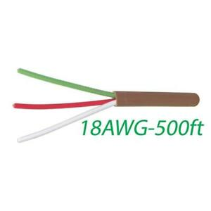 Logico 18 3 Thermostat Wire 18 gauge Copper Cmr Heating Ac Hvac Cable 500ft