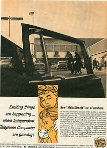 1959 Print Ad of US Independent Telephone Association Main Street out of nowhere